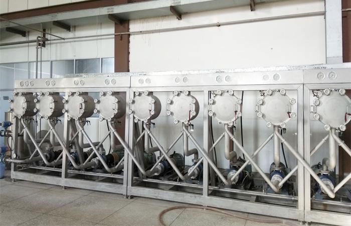 Cassava starch processing line working video_Video