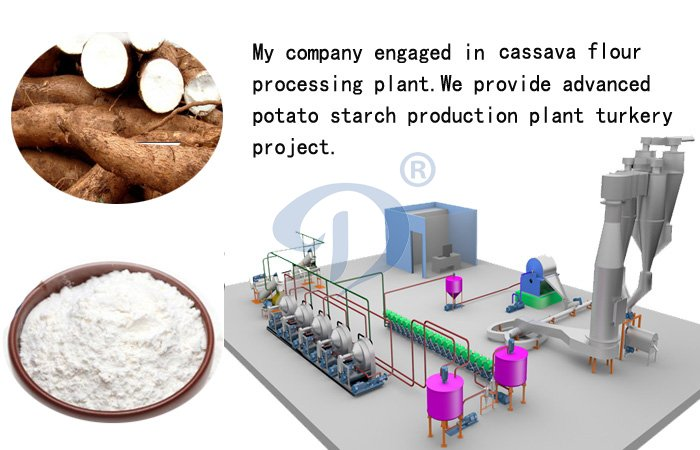 Cassava powder processing machine