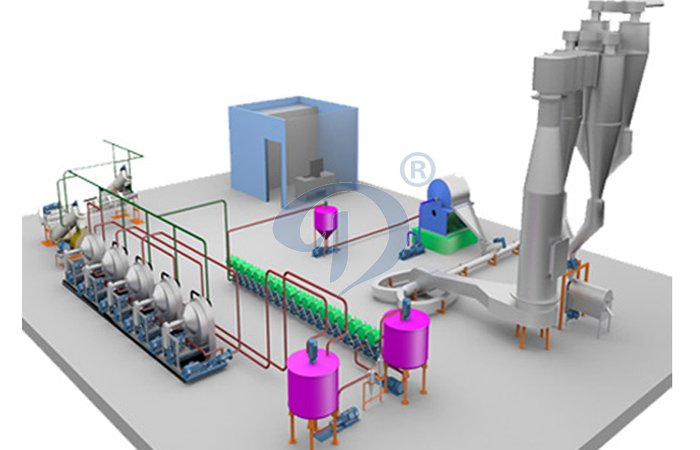 Automatic cassava starch production plant