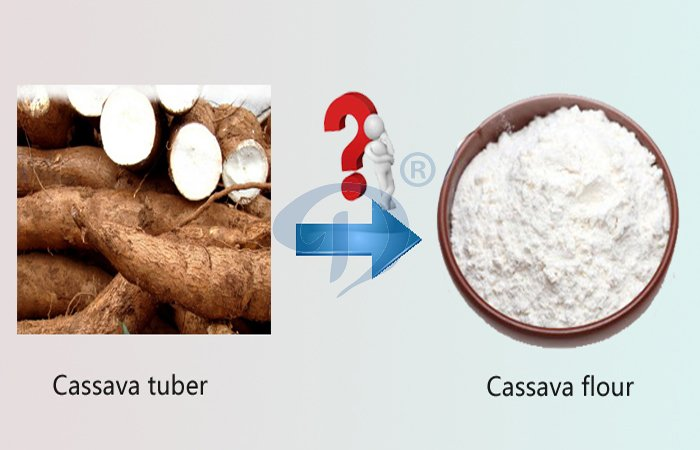 extracting cassava flour from cassava machine