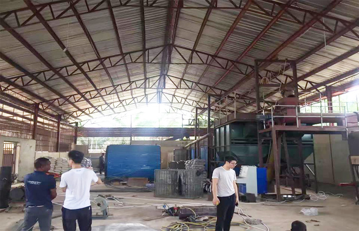 cassava starch production plant installation site
