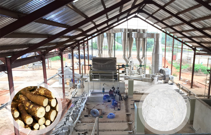 Cassava flour production in Nigeria