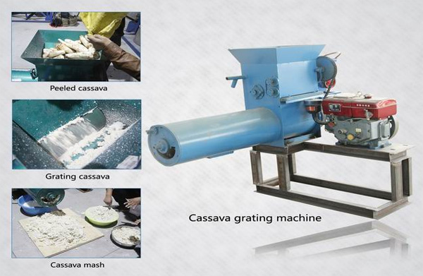 cassava grating machine