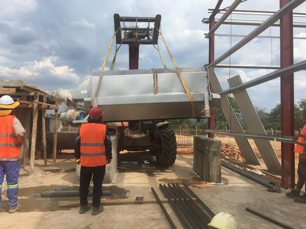 French customer setting up a cassava processing factory in