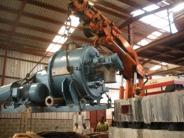 Cassava starch production line installation in Nigeria