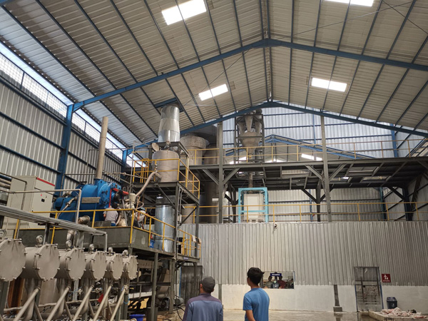 Indonesian cassava starch processing factory running video