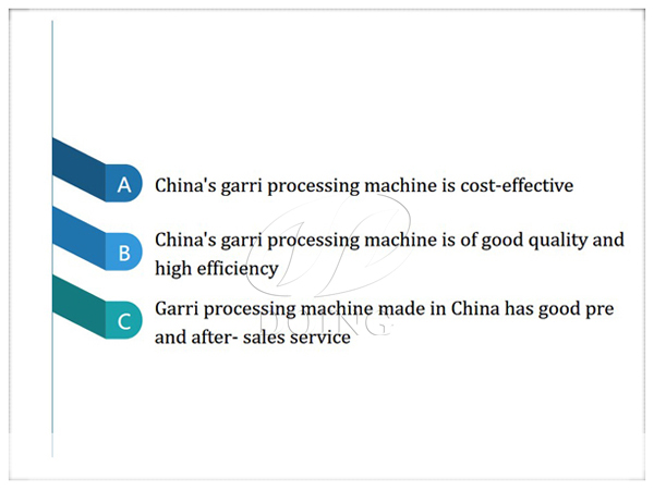 Why do African people choose to buy garri processing machine in China ?