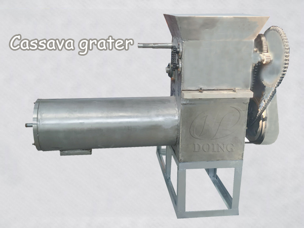What is the working principle of cassava grater?