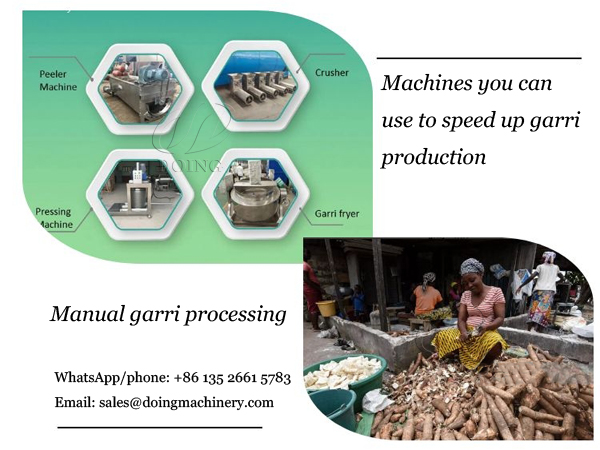 What machines can you use to speed up garri production?