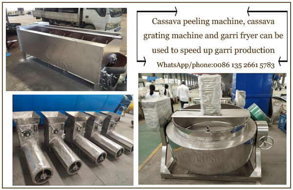 What machines can you use to speed up garri production