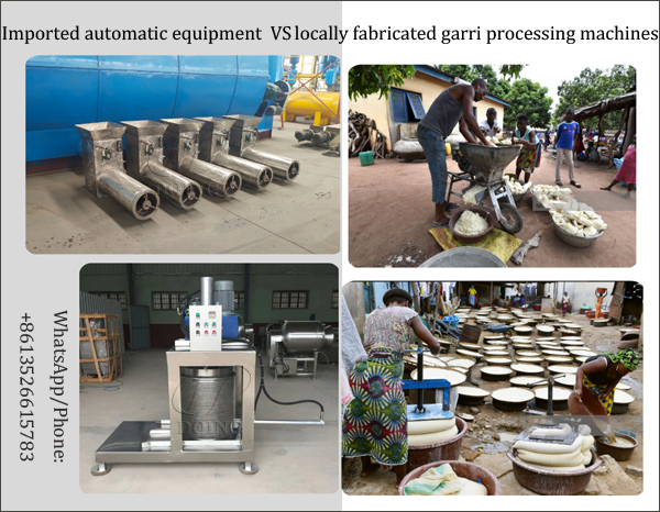 locally fabricated garri processing machines