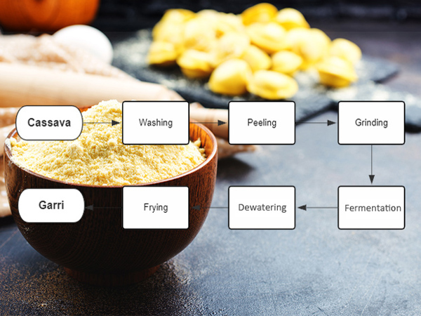 The processes involved in garri production
