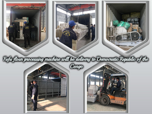 8tph fufu flour making machine will be shipped to Democratic Republic of the Congo