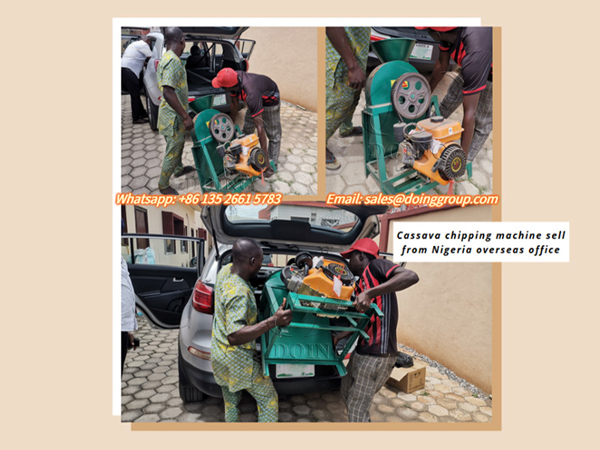 Nigerian client buy home use cassava chipper machine from Nigerian overseas warehouse