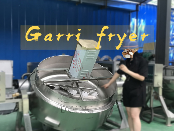 Automatic cassava garri fryer machine in garri processing plant