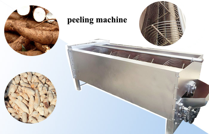 Cassava peeler machine running video