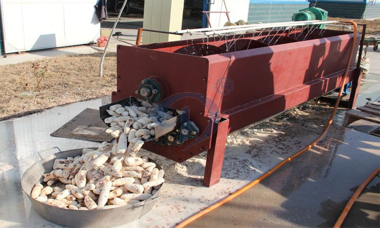 Cassava peeler machine